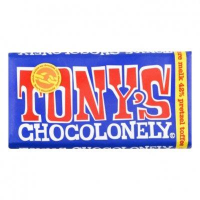 Tony's Chocolonely Donkere melkchocolade pretzel toffee