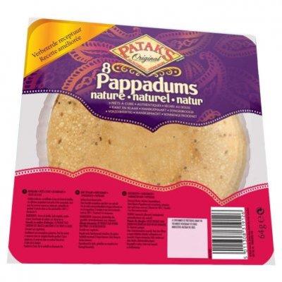 Patak's Pappadums naturel kant-en-klaar