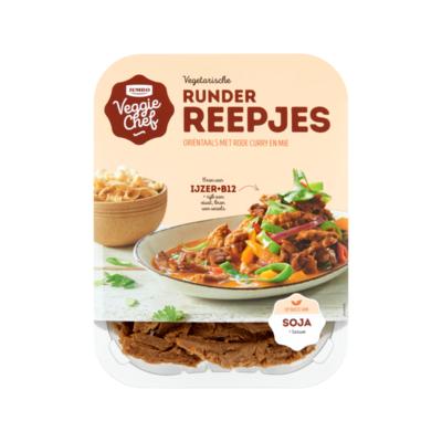 Huismerk Veggie Chef Vegetarische Runder Reepjes