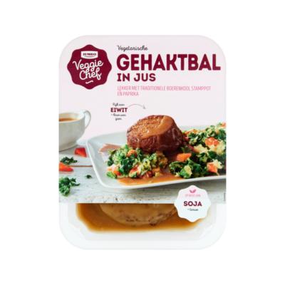Huismerk Veggie Chef Vegetarische Gehaktbal in Jus