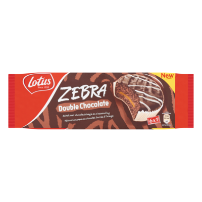 Lotus Koek Zebra Double Chocolate