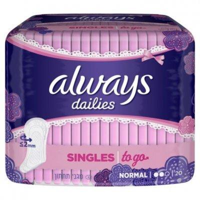 Always Dailies singles to go inlegkruisjes