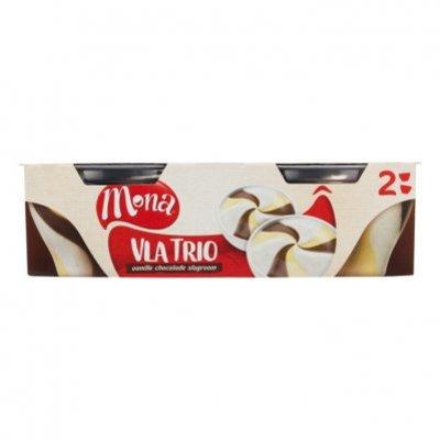 Mona Vla trio vanille chocolade en slagroom
