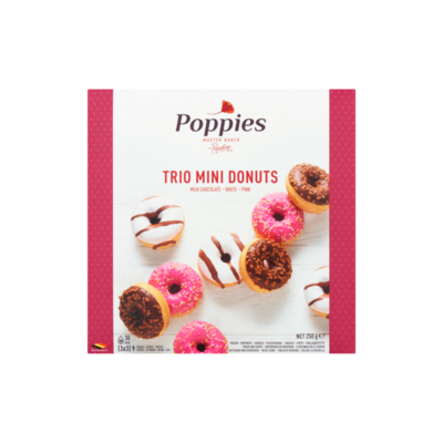 Poppies Trio Mini Donuts 9 Stuks