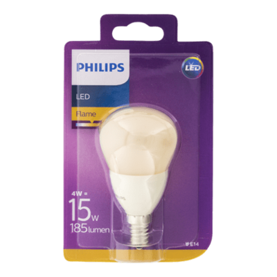 Philips Lamp LEDFlame 15W P48 E14 230V