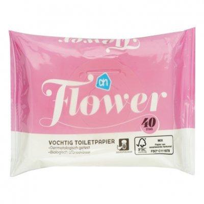 Huismerk Vochtig toiletpapier bloemen
