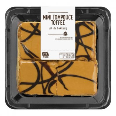 Huismerk Mini tompouce toffee