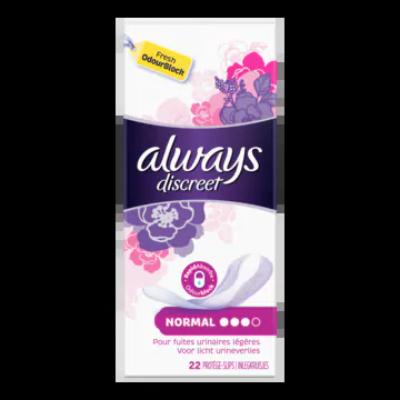 Always Discreet Normal Inlegkruisjes 22, Voor Urineverlies
