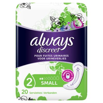 Always Discreet Small Verband Voor Urineverlies x20