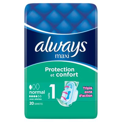 Always Maxi Normal (Maat 1) Maandverband Vleugels 20 stuks