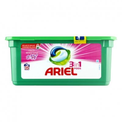 Ariel Pods fresh pink wasmiddel capsules