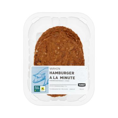 Huismerk Varken Hamburger a la Minute 3 Stuks
