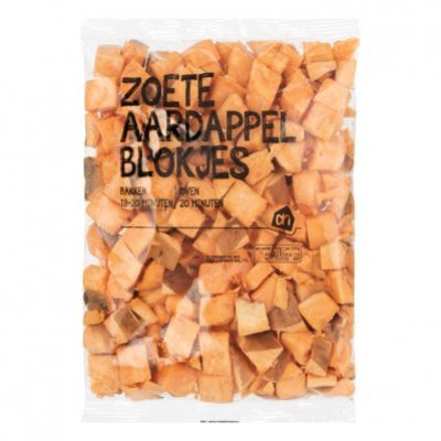 Huismerk Zoete aardappelblokjes