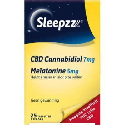 Sleepzz CBD 7 mg - 5 mg melatonine