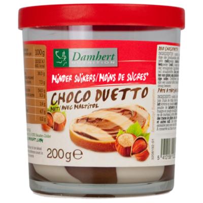 Damhert No sugar added choco duetto