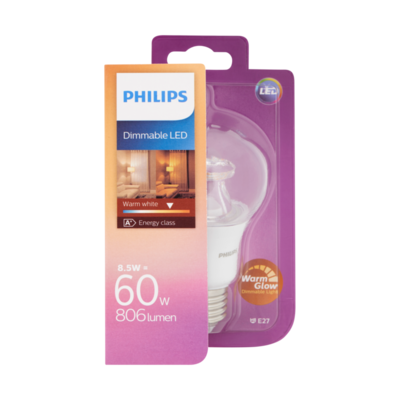 Philips Dimmable LED Lamp Warm White 8,5W E