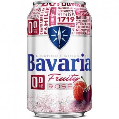 Bavaria 0.0% alcoholvrij fruity rose bier