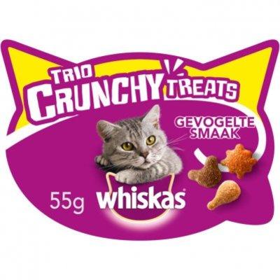 Whiskas Kattensnacks trio crunchy gevogelte