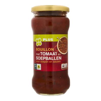 Huismerk Bouillon met tomaat en soepballen
