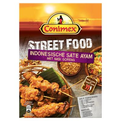 Conimex StreetFood Maaltijdpakket Indonesische Saté Ayam met Nasi Goreng 201 g