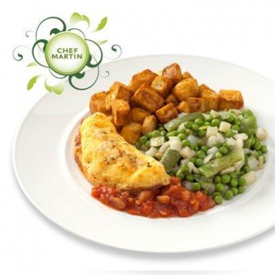 Chef Martin Cajun omelet met bonne femme groenten