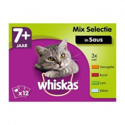 Whiskas Kattenvoer nat mix in saus 7+ jaar