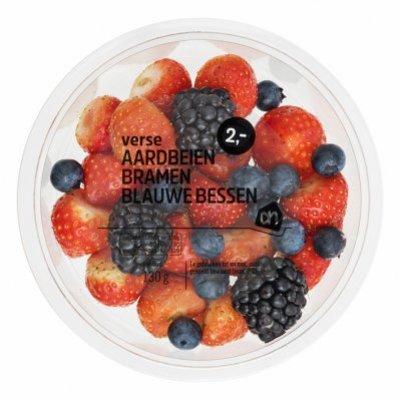 Huismerk Verse aardbeien bramen blauwe bessen
