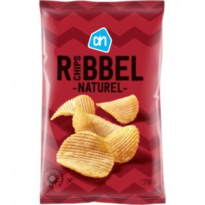 Huismerk Ribbelchips naturel