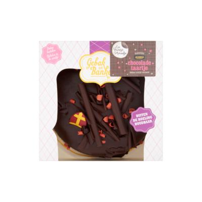 Huismerk Gebak en Banket Chocoladetaartje Sinterklaas