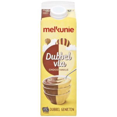 Melkunie Dubbelvla vanille-chocolade
