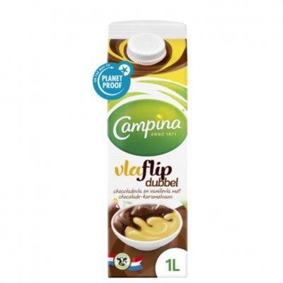 Campina Dubbelvlaflip chocolade-vanille
