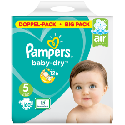 Pampers Baby dry junior maat 5 bigpack
