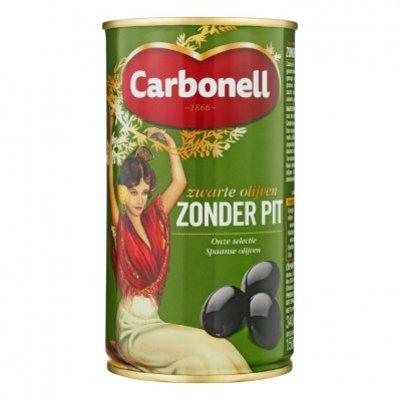 Carbonell Zwarte olijven zonder pit