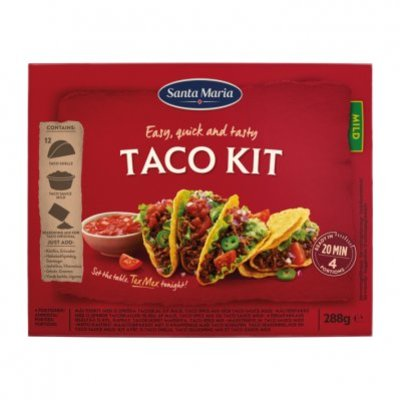 Santa Maria Dinner kit taco
