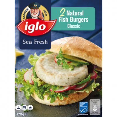 Iglo Natural fish burger classic