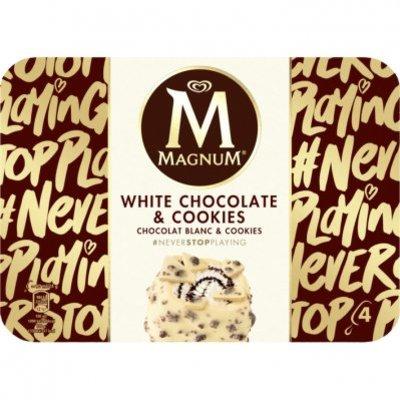 Magnum White chocolate & cookies ijs