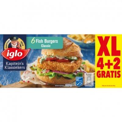 Iglo Kapiteins fish burgers XL