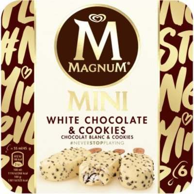 Magnum White chocolate & cookies mini ijs
