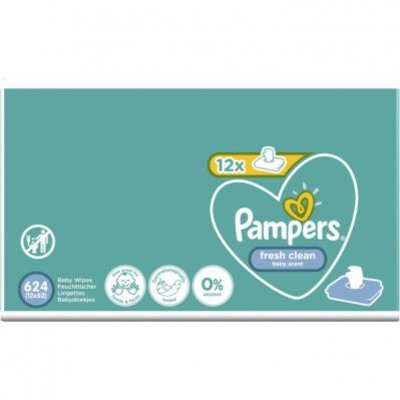 Pampers Baby Wipes Fresh Clean 12 stuks