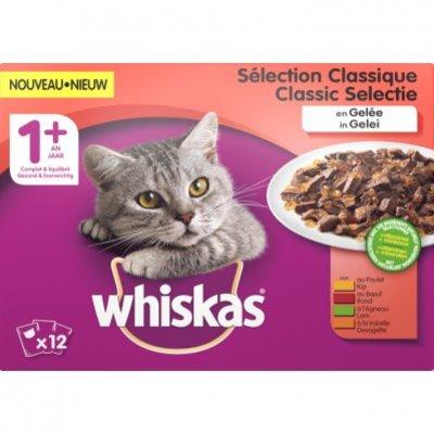 Whiskas Kattenvoer nat classic in gelei 1+ jaar