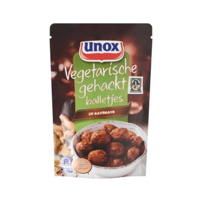 Unox Vegetarische Gehaktballetjes in Satésaus