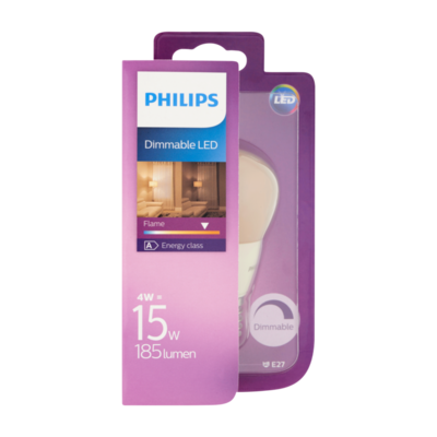 Philips Dimmable LED Lamp Flame 4W E