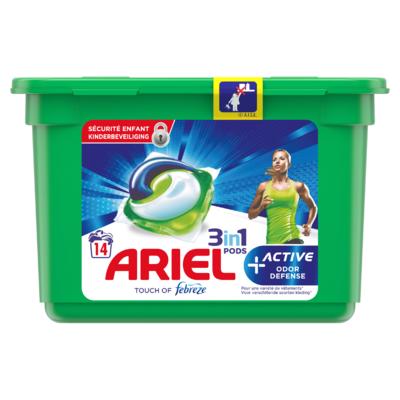 Ariel Allin1 Pods +Actieve Geurbestrijding Wasmiddelcapsules 14 Wasbeurten