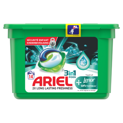 Ariel Wasmiddelcapsules Touch Of Lenor Unstoppables, 14 Wasbeurten