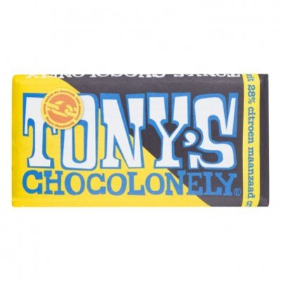 Tony's Chocolonely Wit Citroen Maanzaad Crumble