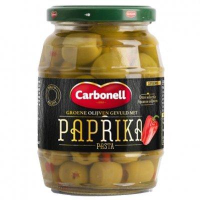 Carbonell Groene olijven gevuld met paprikapasta