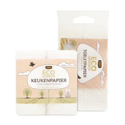 Huismerk Ecologisch Keukenpapier en Toiletpapier