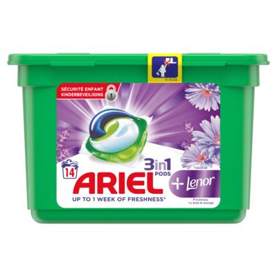 Ariel Allin1 Pods +Unstoppables Wasmiddelcapsules 14 Wasbeurten