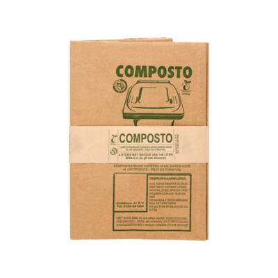 Composto Composteerbare Papieren Afvalzakken 140 Liter