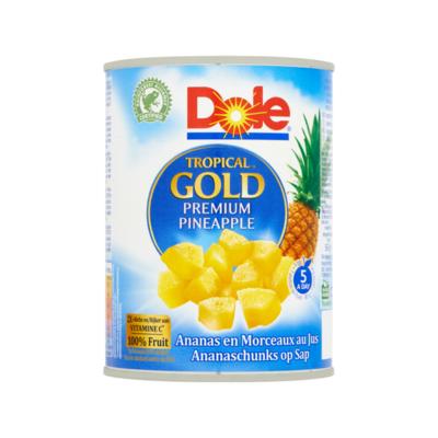 Dole Tropical Gold Ananaschunks op Sap